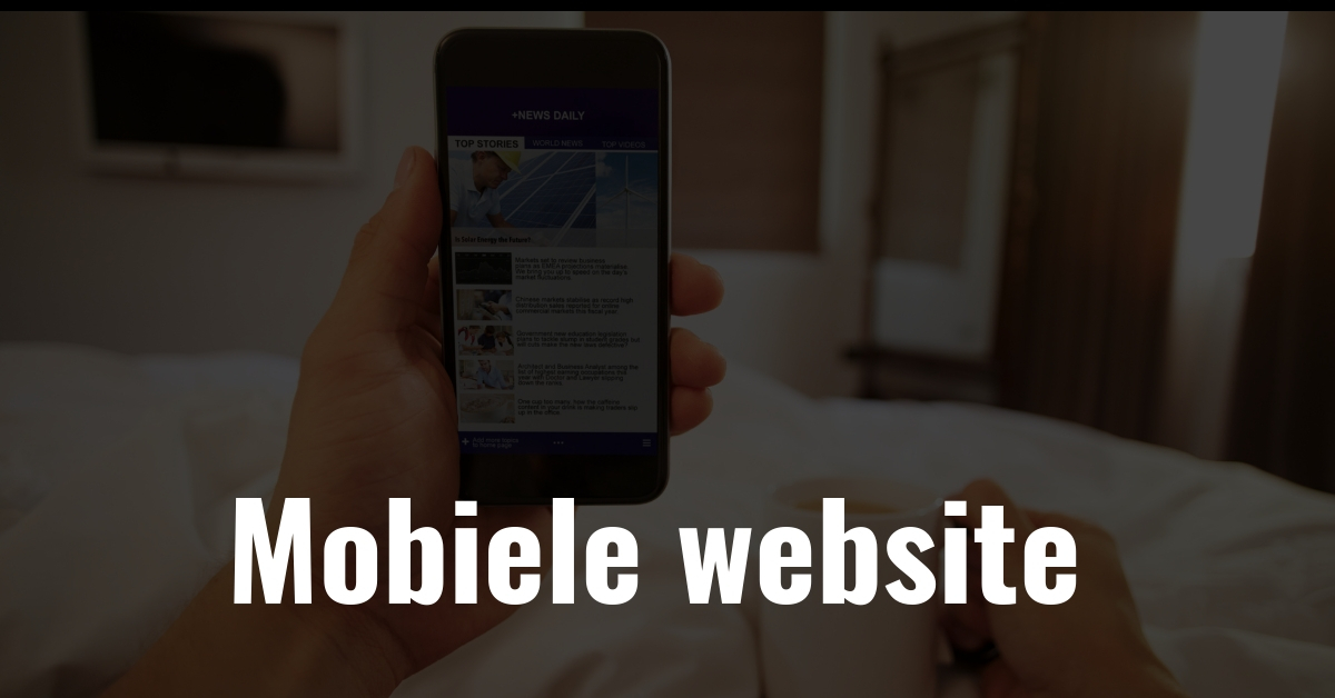 mobiele website