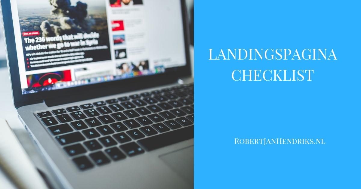 landingspagina checklist